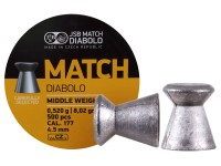 JSB Yellow Match Middle Weight  .177 Cal, 8.02 Grains, Wadcutter, 500ct