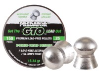 Predator International Predator GTO .25 Cal, 16.54 Grains, Domed, Lead-Free, 150ct