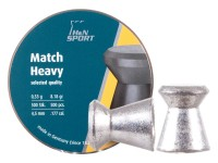 H&N Match Heavy .177 Cal, 8.18 Grains, 4.50mm, Wadcutter, 500ct