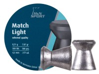 Haendler & Natermann H&N Match Light .177 Cal, 7.87 Grains, 4.49mm, Wadcutter, 500ct