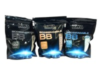 KWA Biodegradable Airsoft BBs, 0.20, 0.25, 0.28g, White, 13,000 Rds
