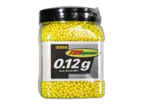 TSD Sports 6mm Plastic Airsoft BBs, 0.12g, 10,000 rds, Yellow