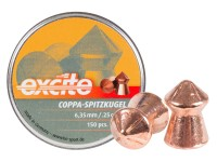 H&N Excite Coppa-Spitzkugel Pellets, .25 Cal, 24.54 Grains, Pointed, 150ct