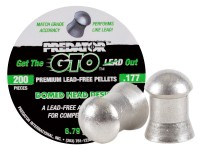 Predator GTO .177 Cal, 6.79 Grains, Domed, Lead-Free, 200ct