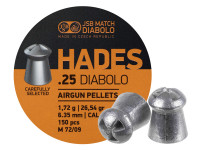 JSB Match Diabolo Hades, .25 Cal, 26.54gr, Hollowpoint, 150 ct