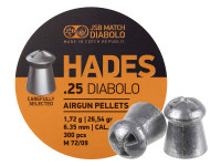JSB Match Diabolo Hades, .25 Cal, 26.54gr, Hollowpoint, 300 ct