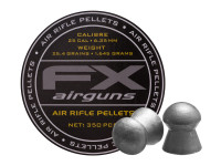 FX Air Rifle Pellets .25 Cal, 25.39 Grains, Domed, 350ct.