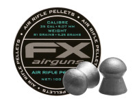FX Air Rifle Pellets .35 Cal, 81.02 Grains, Domed, 100ct.