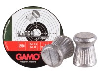 Gamo Match .22 Cal, 15.43 Grains, Wadcutter, 250ct