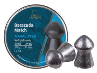 H&N Baracuda Match .22 Cal, 21.14 Grains, Round Nose, 200ct
