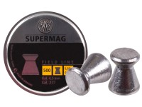 RWS Supermag .177 Cal, 9.3 Grains, Wadcutter, 500ct