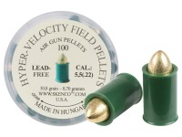 Skenco Hyper-Velocity Field Pellets, Type 1 for Standard Guns, .22 Cal, 10.8 Grains, Pointed, Lead-Free, 100ct