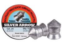 Beeman Silver Arrow .25 Cal, 24.38 Grains, Pointed, 150ct