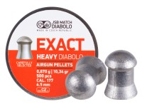 JSB Diabolo Exact Heavy .177 Cal, 10.34 Grains, Domed, 500ct