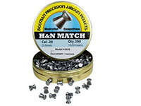 Beeman H&N Match .20 Cal, 10.03 Grains, Wadcutter, 200ct