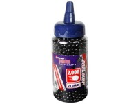 Crosman 6mm plastic airsoft BBs, 0.25g, 2,000 rds, black