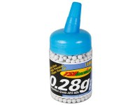 TSD Tactical 6mm plastic airsoft BBs, 0.28g, 1,000 rds, white