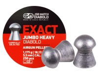 JSB Match Diabolo Exact Jumbo Heavy .22 Cal, 18.13 Grains, Domed, 250ct