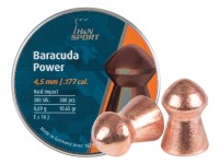 H&N Baracuda Power .177 Cal, 10.65 Grains, Round Nose, 300ct