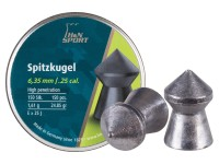 Haendler & Natermann H&N Spitzkugel .25 Cal, 24.85 Grains, Pointed, 150ct