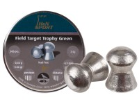 Haendler & Natermann H&N Field Target Trophy Green .177 Cal, Lead-Free, 5.56 Grains, Domed, 300ct