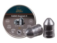 H&N Rabbit Magnum II .177 Cal, 15.74 Grains, Cylindrical with Round Nose, Solid, 200ct
