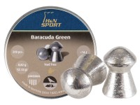 H&N Baracuda Green .22 Cal, 12.35 Grains, Domed, Lead-Free, 200ct