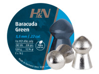 H&N Baracuda Green .22 Cal, 12.96 Grains, Domed, Lead-Free, 200ct