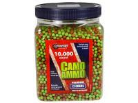 Crosman 6mm Plastic Airsoft BBs, 0.12g, 10,000 Rds, Camo