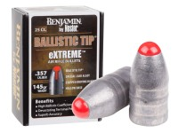 Benjamin Nosler Ballistic Tip eXTREME Air Rifle Bullet, .357 Cal., 145 Grains, Round Nose, 25ct