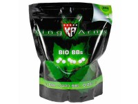 King Arms 6mm Biodegradable Airsoft BBs, 0.25g, Green, 4000 Rds