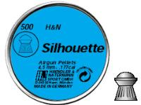 Haendler & Natermann H&N Silhouette .177 Cal, 8.49 Grains, Domed, 500ct