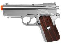 TSD Metal M1911 CO2 Pistol, Chrome w/ Wood Grip Airsoft gun