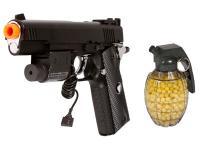 TSD Sports M1911 Tac Airsoft Pistol Kit, Black Airsoft gun