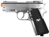 TSD Metal M1911 CO2 Pistol, Chrome w/ Black Grip Airsoft gun
