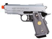 WE Baby Hi-Capa 3.8 GBB Airsoft Pistol, Silver Airsoft gun