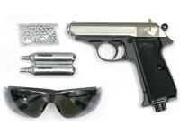 Walther PPK/S Silver Combo Air gun