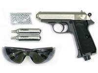 Walther PPK/S Silver Combo Air gun