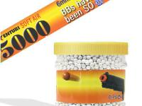 Air Venturi 6mm plastic airsoft BBs, 0.25g, 5000 rds, white
