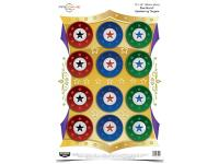 Birchwood Casey Pregame Star Burst Target, 12 inchx18 inch, 8ct