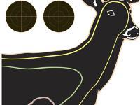 Champion VisiColor High-Visibility Paper Targets, Deer, 13x18  - 10pk
