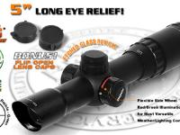 Leapers 5th Gen 1.25-4X24 Long Eye Relief Rifle Scope, Illuminated Etched Glass Reticle