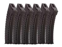 Classic Army High-Capacity Waffle Airsoft Rifle Magazines, For Use With Kalashnikov AK47 Airsoft Rifles, 600 Rds, 6ct