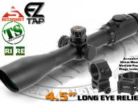 Leapers Accushot 3-9x44 Tactedge Rifle Scope, Illuminated Mil-Dot Reticle, 1/4 MOA, 30mm Tube, See-Thru Weaver Rings