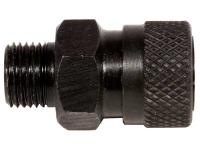 Air Venturi Female Quick-Disconnect Adapter, 1/8 inch BSPP Male Threads, Steel, Rated to 5000 PSI
