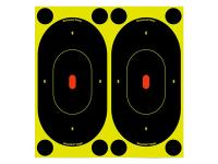 Birchwood Casey Shoot-N-C Targets, 7 inch Silhouette, 12 Targets + 48 Pasters