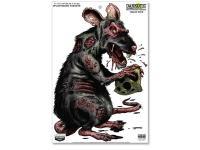 Birchwood Casey Zombie Rat Darkotic Drain Pipe Splattering Target, 12 inchx18 inch, 8ct
