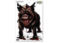 Birchwood Casey Zombie Hog Darkotic Smokehouse Splattering Target, 12 inchx18 inch, 8ct