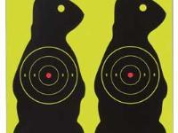 Birchwood Casey Shoot-N-C Prairie Chuck Targets, 7 inch, 3 inch Bullseye, 12ct