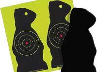 Birchwood Casey Sharpshooter Corrugated Plastic Prairie Chuck Targets, 7.5 inch, 3 inch Bullseye, 6ct